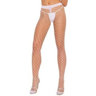 Spandex Diamond Net Pantyhose, Spandex Fishnet Pantyhose - One Size Fits Most