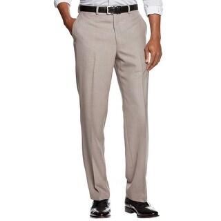 Ralph Lauren Sharkskin Flat Front and Hemmed Dress Pants Taupe 38 x 32 Trousers