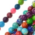 Impression Jasper Gemstone Beads, Round 4mm, 15 Inch Strand, Multi Color - Thumbnail 0