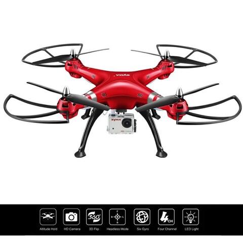 Costway Syma X8HG 2.4Ghz 4CH 6-Axis Gyro RC Quadcopter Drone HD Camera RTF