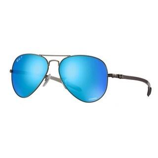 Ray-Ban RB8317 Chromance Polarized Sunglasses (Gunmetal/Blue Mirror)
