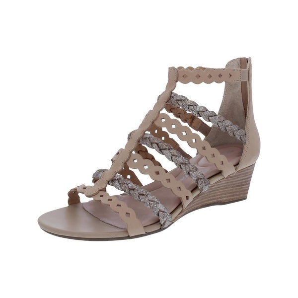 Rockport Womens Gladiator Sandals Glitter Woven