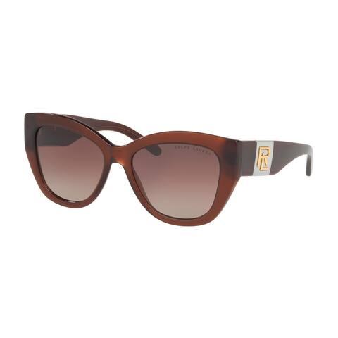 Ralph Lauren RL8175 5771E2 54 Brown Tabacco Trasparent Woman Square Sunglasses