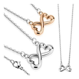 Infinity Heart Stainless Steel Pendant with Chain Necklace 23.6 Inches (7.8 mm) - 23 in