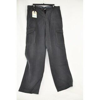 Tommy Bahama Black Tencel Size 34X34 Cotton Mens Cargo Pants