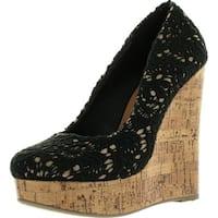 Dress Almond Toe Crochet Platform High Wedge Heel Summer Sandals