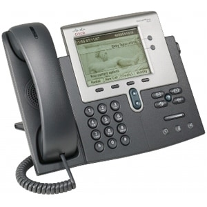 Cisco CP-7942G-RF Cisco 7942G Unified IP Phone - 2 x RJ-45 10/100Base-TX , 1 x - Wall-mountable