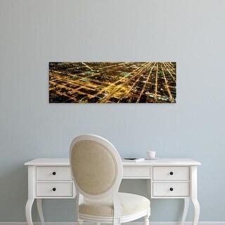 Easy Art Prints Panoramic Images's 'USA, Illinois, Chicago, twilight' Premium Canvas Art