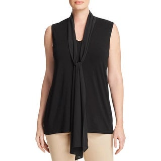 Vince Camuto Womens Plus Casual Top Front Tie Hi Low - 3x