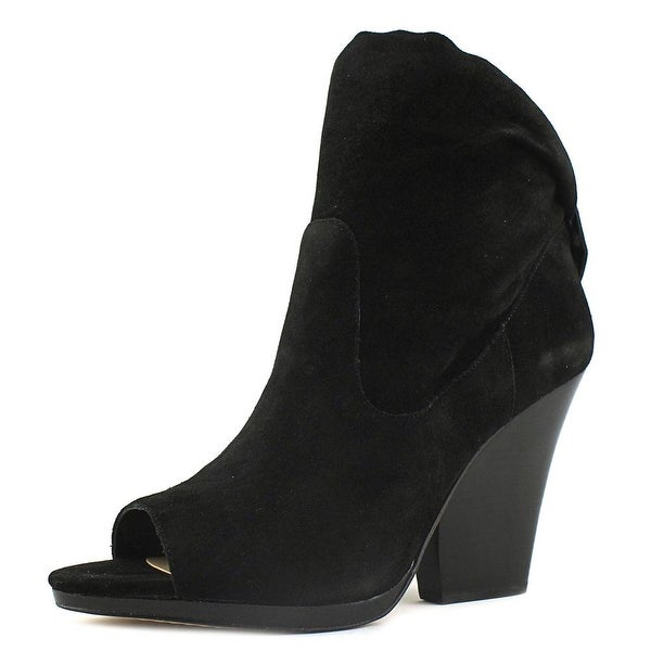 Vince Camuto Judelle Women Open-Toe Leather Black Bootie