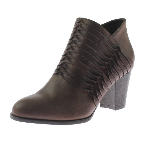 Fergalicious by Fergie Womens Calhoun Ankle Boots Faux Leather Heels