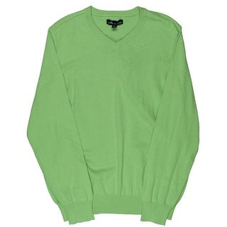 John Ashford Mens Pullover Casual V-Neck Sweater