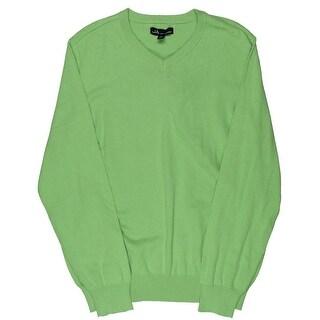John Ashford Mens V-Neck Sweater Pullover Casual