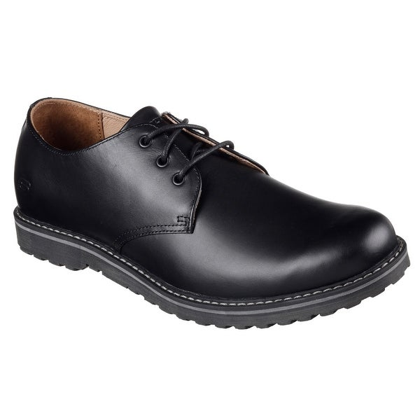 Skechers 65046 BLK Men's SOLENT-MANGER Oxford