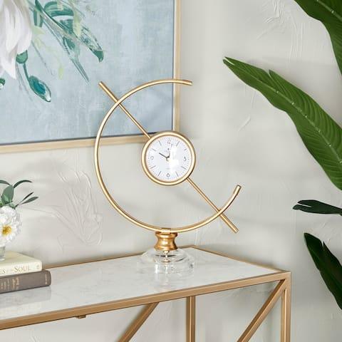 Gold Iron Modern Clock 16 x 13 x 5 - 13 x 5 x 16