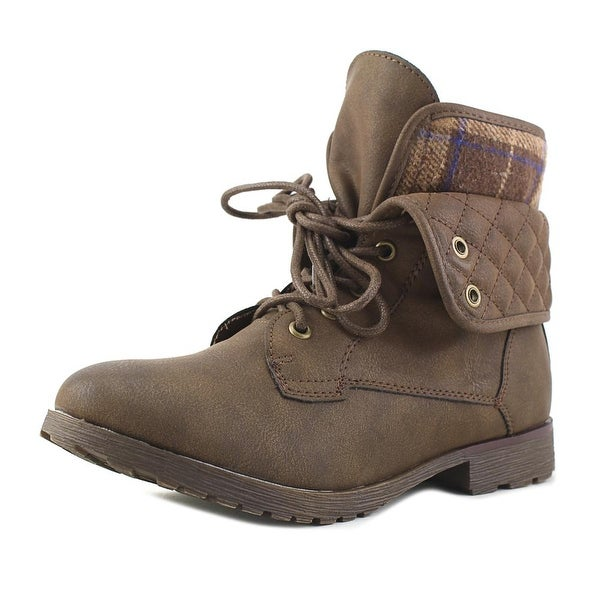 Rock & Candy Spraypaint Quilted Dark Brown Boots