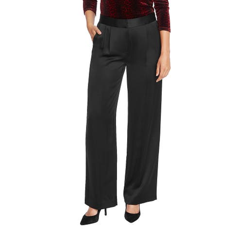 Vince Camuto Womens Dress Pants WideLeg Pleated - Rich Black