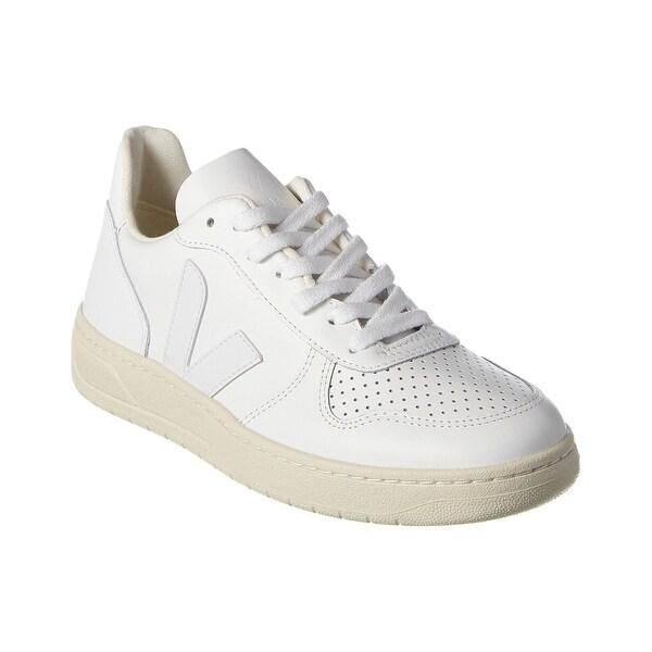 Shop Veja V-10 Leather Sneaker