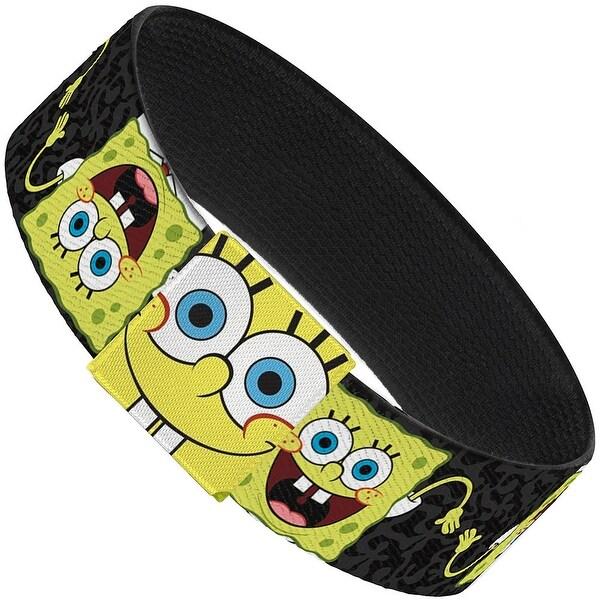SpongeBob Pose Flip Camo Gray Black Elastic Bracelet