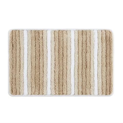Home Dynamix Ombre Element Modern Stripe Bath Mat