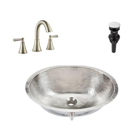 Pavlov Undermount Nickel Bath Sink with Pfister Cantara Faucet and Drain
