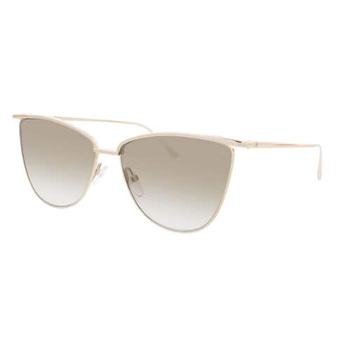 Tom Ford FT0684 28G Veronica Shiny Rose Gold Butterfly Sunglasses - 58-14-140