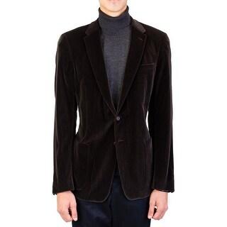 Prada Men's Satin Cotton Two-Button Sportscoat Jacket Brown