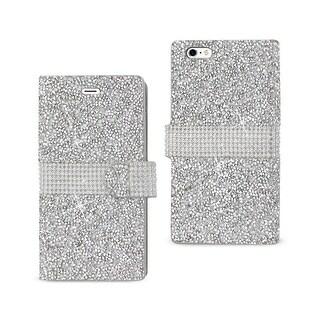 Reiko Iphone 6 Plus Diamond Rhinestone Wallet Case In Silver