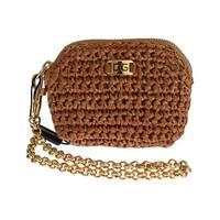 Dolce & Gabbana Dolce & Gabbana Beige Raffia Chain Wristlet Clutch Wallet Bag - One size