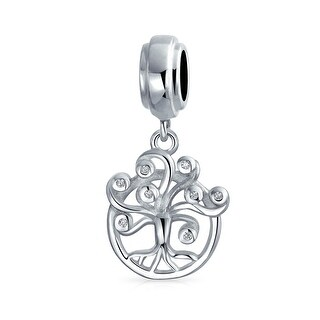 Bling Jewelry Crystal Dreamers Tree of Life Bead Charm .925 Sterling Silver