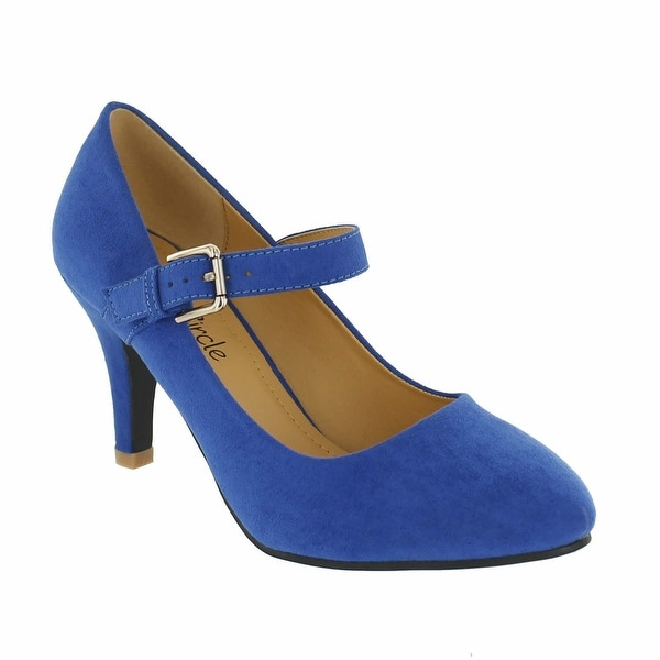 Red Circle Footwear 'Alaska' Almond Toe Pump in Blue