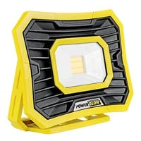 PowerGlow 2000 Lumen LED Rechargeable Work Light with USB Outlet to Charge Phone