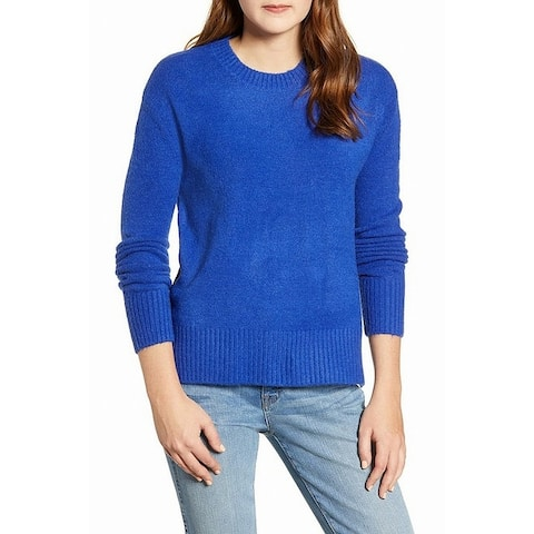 KUT from the Kloth Women Sweater Blue Size Small S Ribbed Trim Crewneck