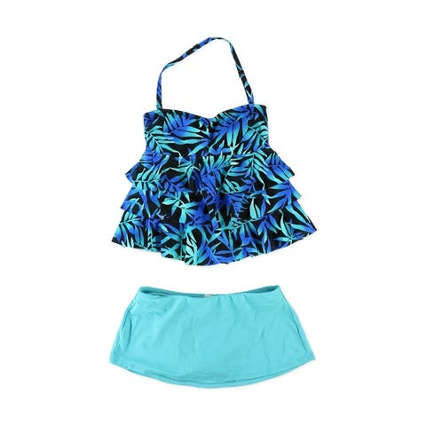 Island Escape Womens Tahiti Skirtini 2 Piece Tankini