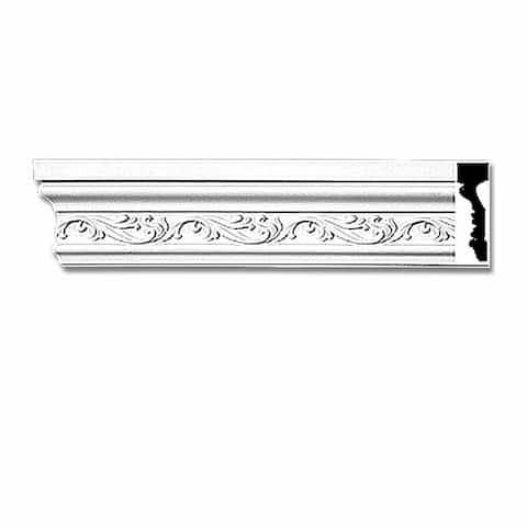 "Crown Molding White Urethane 4 1/2"" H Savannah Ornate Renovator's Supply"