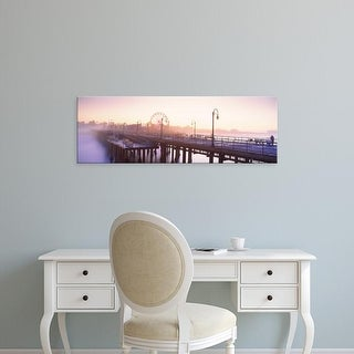 Easy Art Prints Panoramic Image 'Ferris wheel, Santa Monica Pier, Santa Monica, Los Angeles, California' Canvas Art