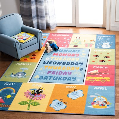 SAFAVIEH Kids Playhouse Avril Days and Months Rug