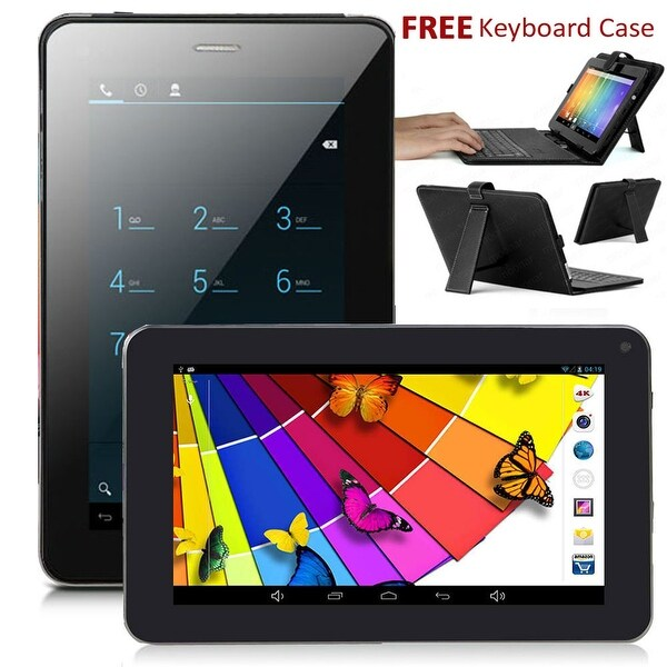 Indigi® 7.0inch Dual-Core Dual-Sim Android 4.2 SmartPhone and Tablet + WiFi + (Front&Rear) Cameras w/ Keyboard Case Included