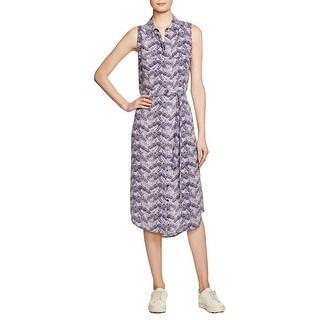 Equipment Womens Tegan Shirtdress Silk Printed
