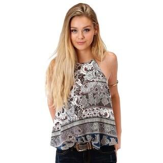 Roper Western Shirt Womens Sleeveless Sapphire 03-052-0590-4022 BU