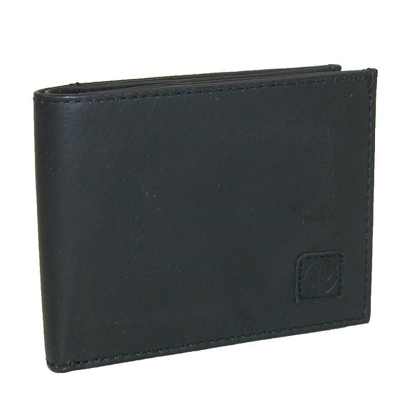 Rugged Rare Leather Slim Compact Bifold Wallet - One size