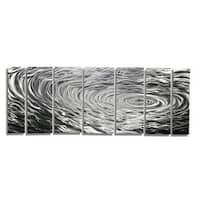 Statements2000 Silver Modern Etched Metal Wall Art Sculpture by Jon Allen - Ripple Effect