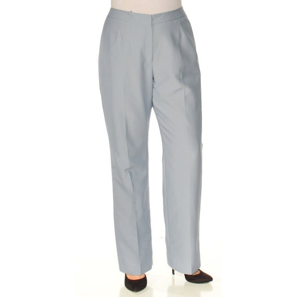 6d2c02b05 Shop LE SUIT Womens Blue Pinstripe Straight leg Wear To Work Pants Size: 12  - On Sale - Free Shipping On Orders Over $45 - Overstock - 24059816