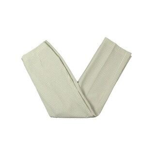 Le Suit Womens French Riviera Dress Pants Seersucker Striped - 4