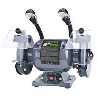 "Genesis GBG600L Bench Grinder With Lights, 6"", 1/2 HP"