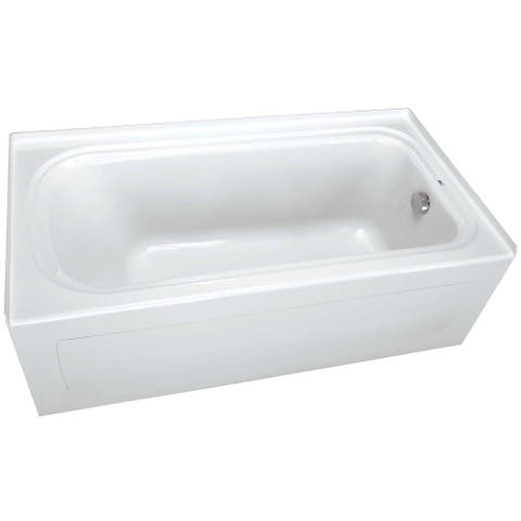"PROFLO PFS6042RSK 60"" x 42"" Alcove Soaking Bath Tub with Skirt and"