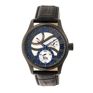 Reign Bhutan Men's Automatic Watch, Genuine Leather Band, Sapphire-Coated Crystal, Luminous Hands