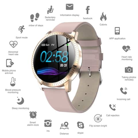 Smart Watch Fitness Wristband Sport Tracker Pro Version 1.22-inch Waterproof IP67 Heart Rate Blood Pressure Monitoring
