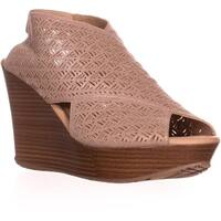 Kenneth Cole REACTION Sole Safe 2 Wedge Sandals, Champagne