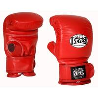 Cleto Reyes Leather Boxing Bag Gloves with Hook and Loop Closure - Red